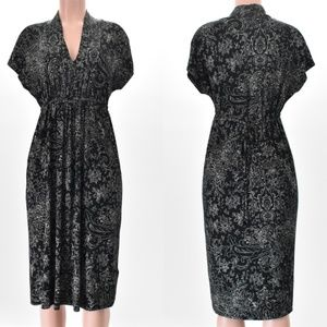Lucky Brand Dress Stretchy & Ties In Back Black S